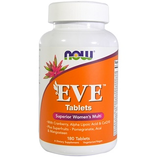 Now Foods, Eva-Tabletten, Überagendes Multivitamin für Frauen, 180 Tabletten