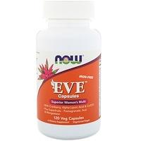 Капсулы Eve, качественные мультивитамины для женщин, без железа, 120 растительных капсул - фото