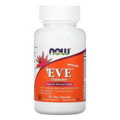 Now Foods, Eve 膠囊,優效女士複合維生素,無鐵,120 粒素食膠囊