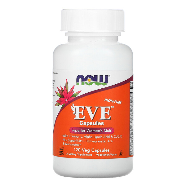 Now Foods, Eve Capsules, Superior Women's Multi, Iron-Free, 120 Veg Capsules