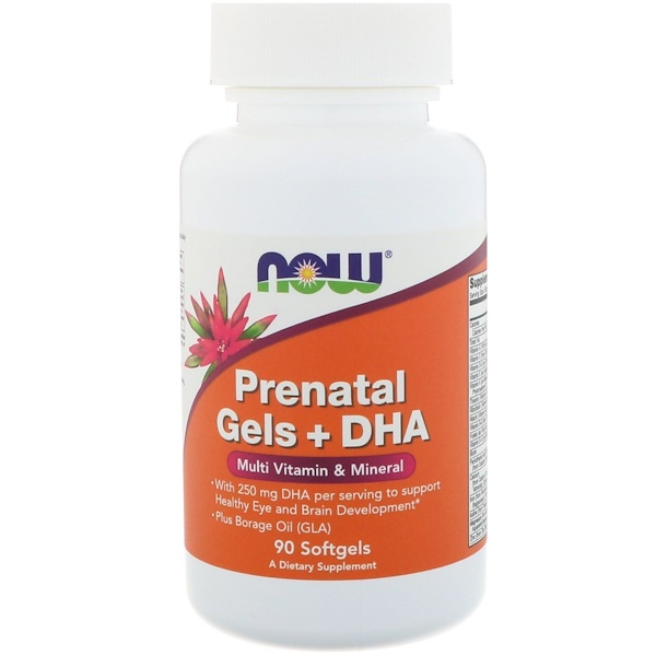 Now Foods, Prenatal Gels + DHA, 90 Softgels