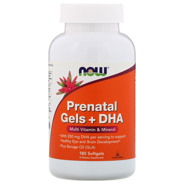 Now Foods, Prenatal Gels + DHA, 180 Softgels