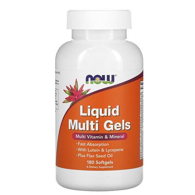 Купить Now Foods мягкие таблетки с жидкими мультивитаминами, 180мягких таблеток