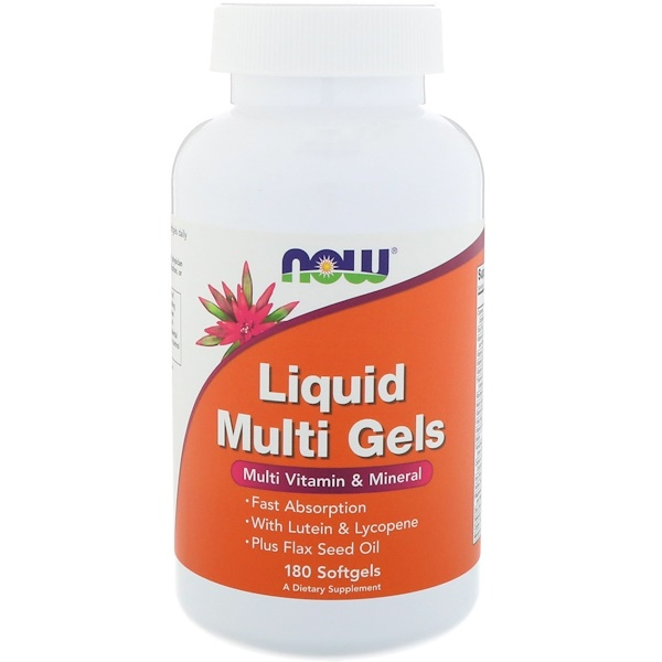 Now Foods, Liquid Multi Gels, 180 Softgels