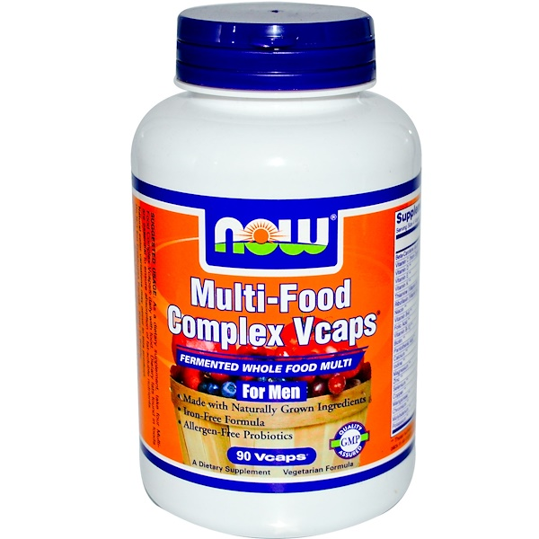 Now Foods, Multi-Food Complex Vcaps, For Men, 90 Vcaps (Discontinued Item)