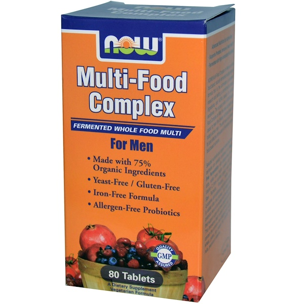 Now Foods, Multi-Food Complex, for Men, Iron-Free, 80 Tablets (Discontinued Item)