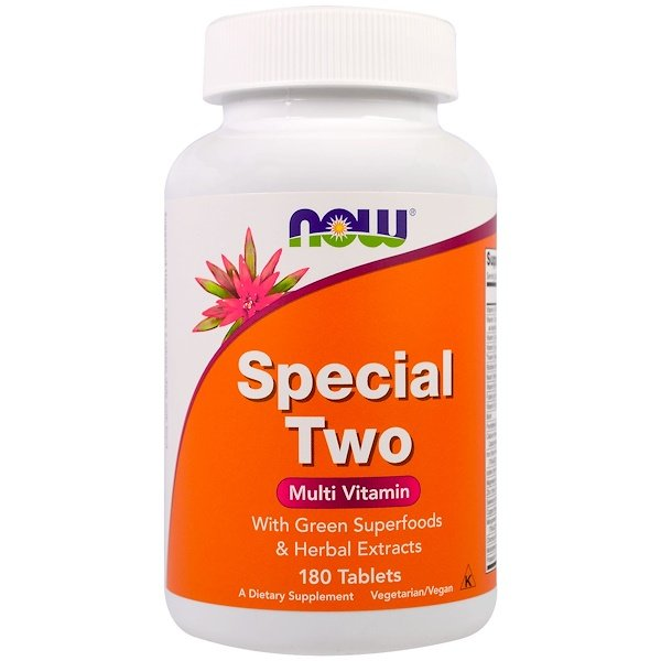 Now Foods, Special Two, Multi Vitamin, 180 Tablets