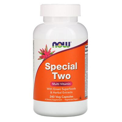 Now Foods Special Two, мультивитамины, 240 растительных капсул  - купить со скидкой