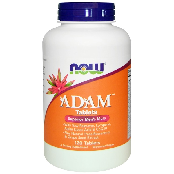 Now Foods, Adam, Superior Men's Multi, 120 Comprimés