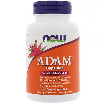 ADAM, превосходные мультивитамины для мужчин, 90растительных капсул недорого