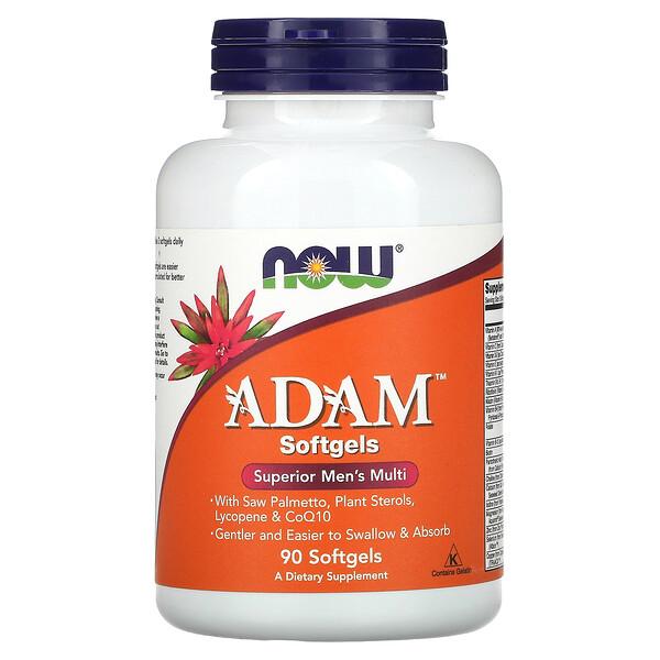 ADAM, Suplemento multivitamínico superior para hombres, 90cápsulas blandas