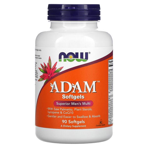 Now Foods, ADAM، فيتامينات فائقة متعددة للرجال، 90 كبسولة هلامية