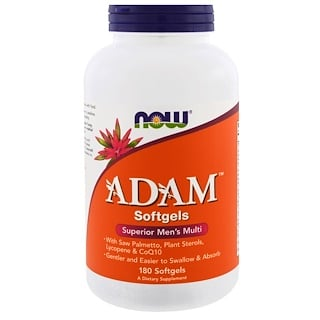 Now Foods, Adam, Superior Men's Multi, 180 gélules souples
