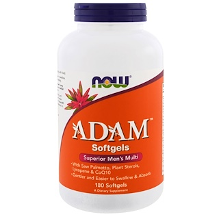 Now Foods, Adam, Superior Multi Masculino, 180 Softgels