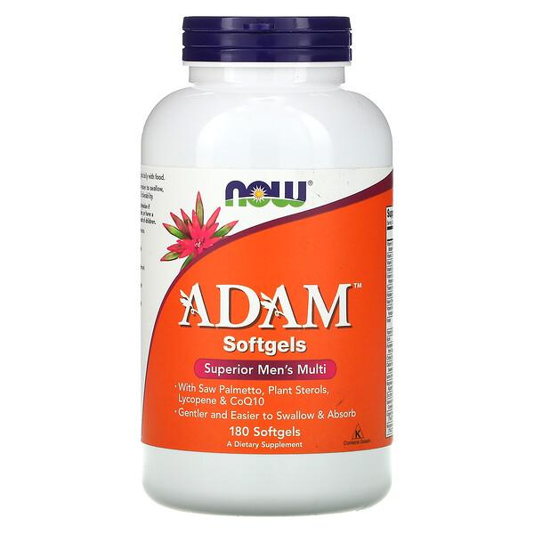Now Foods, ADAM، فيتامينات فائقة متعددة للرجال، 180 كبسولة هلامية