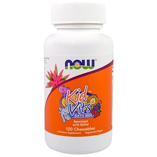 Now Foods, Kid Vits, Berry Blast, 120 Chewables