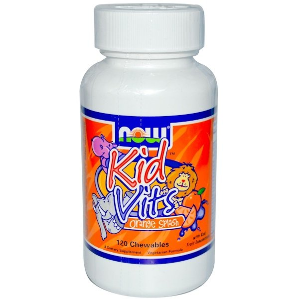 Now Foods, Kid Vits, Orange Splash, 120 Chewables (Discontinued Item)