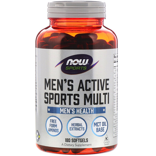 Now Foods, Sports, Men's Active Sports Multi, 180 Softgels