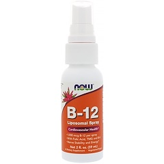 Now Foods, B-12 Liposomal Spray, 1,000 mcg, 2 fl oz (59 ml)
