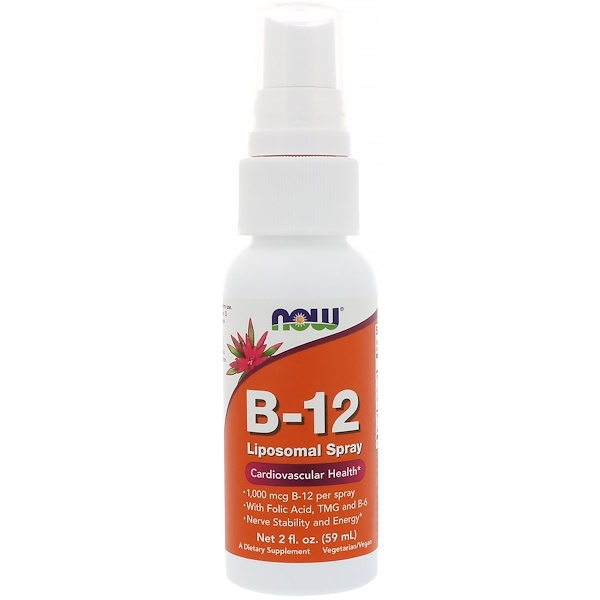 B-12 Liposomal Spray, 1,000 mcg, 2 fl oz (59 ml)