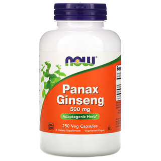 Now Foods, Panax  Ginseng, 500 mg, 250 Veg Capsules