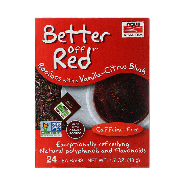 Real Tea, Better Off Red, Caffeine-Free, 24 Tea Bags, 1.7 oz (48 g)