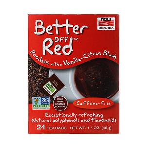 Now Foods, Real Tea, Better Off Red, Caffeine-Free, 24 Tea Bags, 1.7 oz (48 g) отзывы покупателей