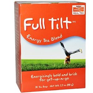 Now Foods, Real Tea, Full Tilt, 24 Tea Bags, 1.7 oz (48 g) отзывы