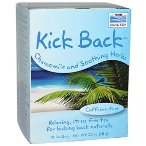 Now Foods, Real Tea, Kick Back, Caffeine-Free, 24 Tea Bags, 1.7 oz (48 g) Each отзывы