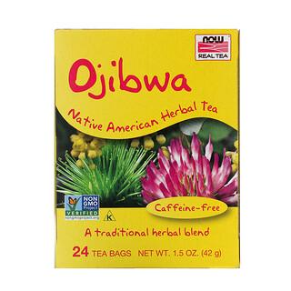Now Foods, 真正的茶,奧吉布瓦,無因,24 茶袋,1.5 盎司(42 克)
