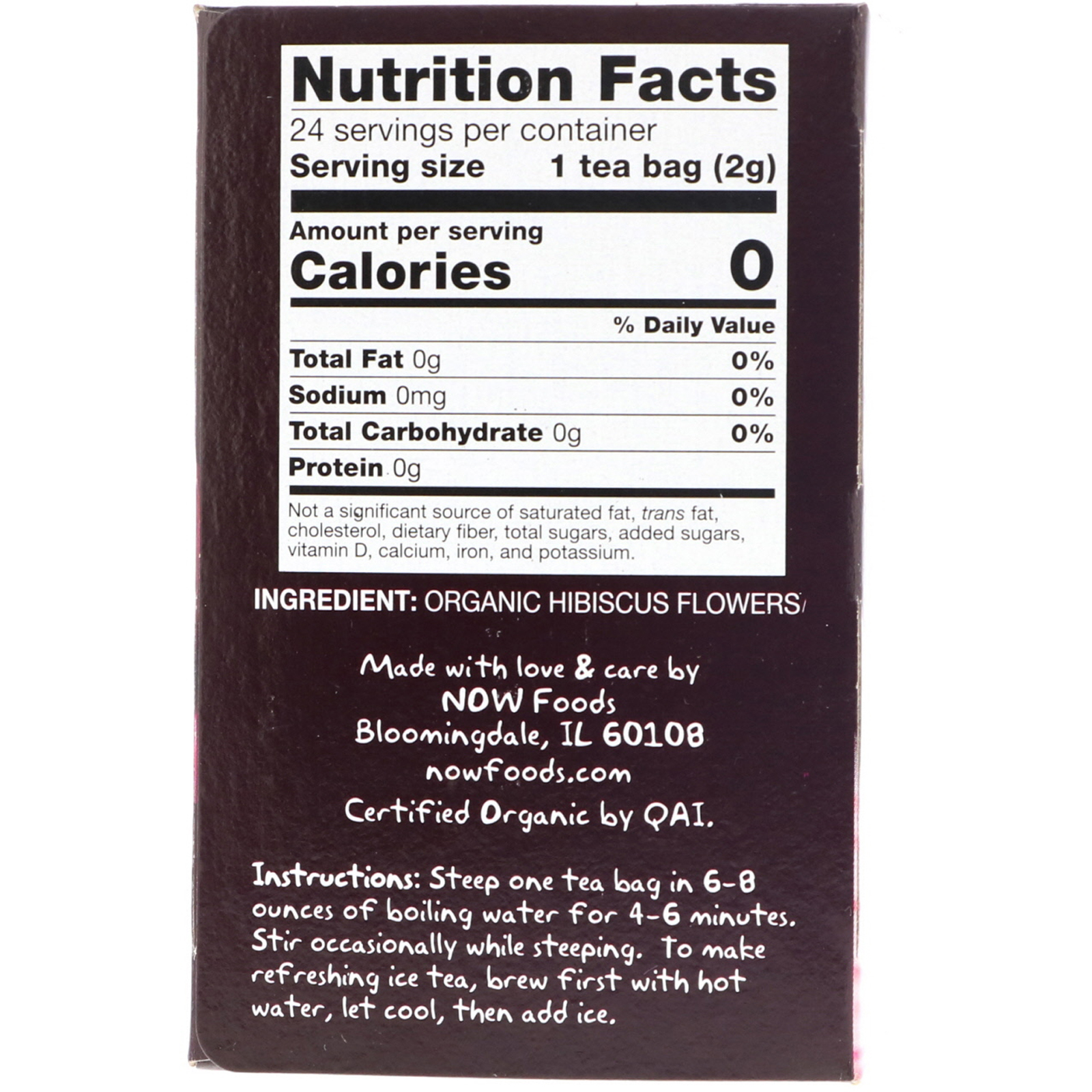 Now Foods, Organic Real Tea