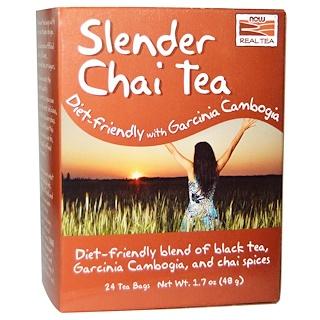 Now Foods, Slender Chai Tea, 24 Tea Bags, 1.7 oz (48 g)