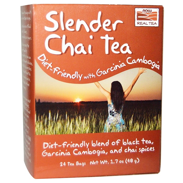 Now Foods, Slender Chai Tea, 24 Tea Bags, 1.7 oz (48 g) (Discontinued Item)