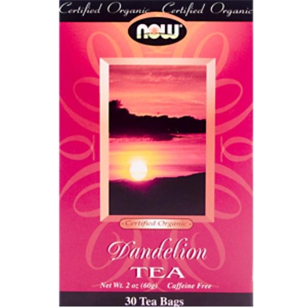 Now Foods, Dandelion Tea, Caffeine Free,  30 Tea Bags, 2 oz (60 g) (Discontinued Item)