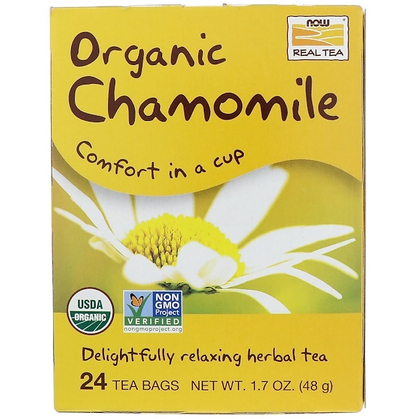 Organic Real Tea, Chamomile, 24 Tea Bags, 2 g Each
