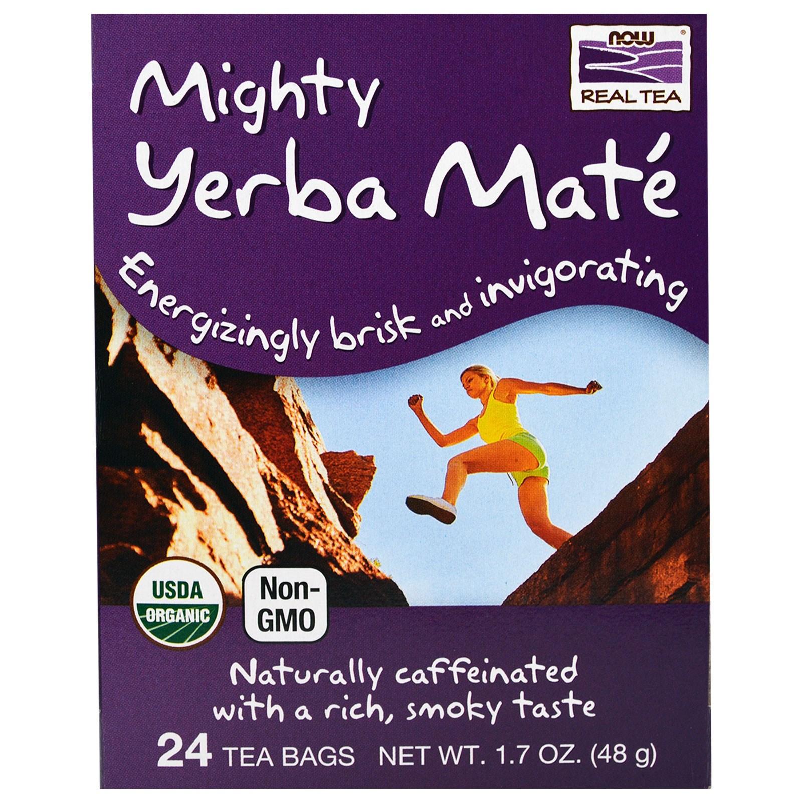 Now Foods, Настоящий чай из Могучего Парагвайского Чайного Дерева , 24 пакетика, 1,7 унции (48 г)