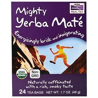 Now Foods, Verdadero té, poderosa yerba mate, 24 saquitos de té, 1,7 onzas (48 g)