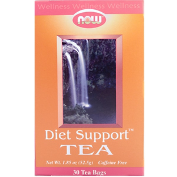 Now Foods, Diet Support Tea, Caffeine Free, 30 Tea Bags, 1.85 oz (52.5 g) (Discontinued Item)