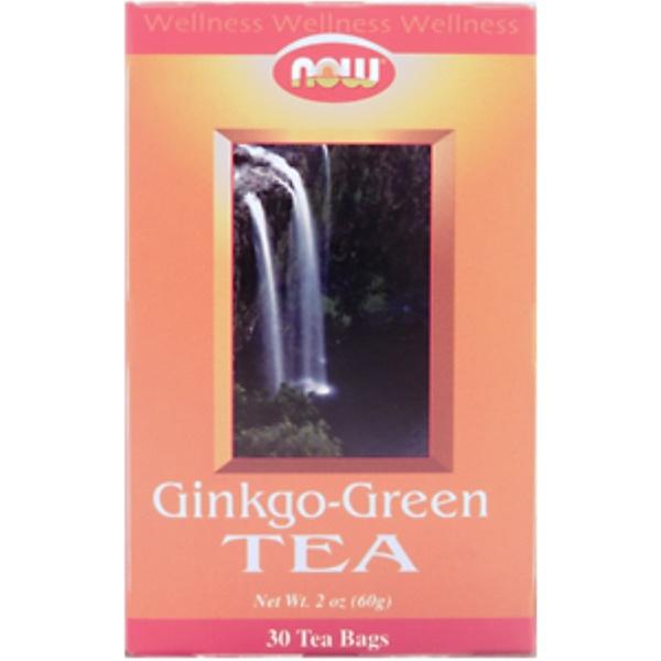 Now Foods, Ginkgo-Green Tea, 30 Tea Bags (Discontinued Item)