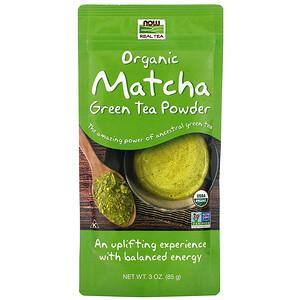 Now Foods, Real Tea, Organic Matcha Green Tea Powder, 3 oz (85 g) отзывы покупателей