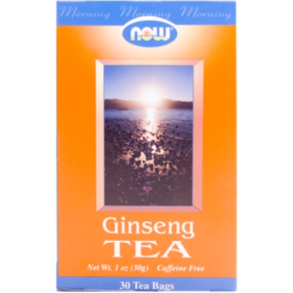 Now Foods, Ginseng Tea, Caffeine Free, 30 Tea Bags, 1 oz (30 g) (Discontinued Item)