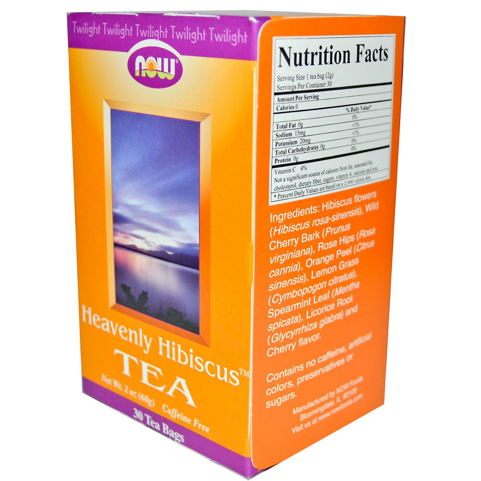Now Foods, Heavenly Hibiscus Tea
