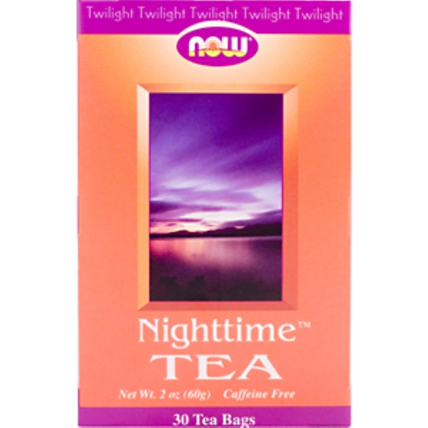 Now Foods, Nighttime Tea, Caffeine Free, 30 Tea Bags, 2 oz (60 g) Each (Discontinued Item)