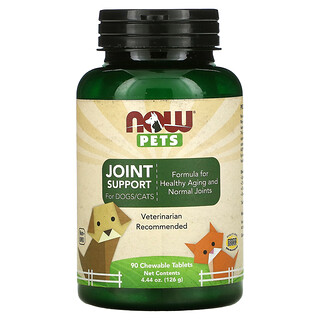 Now Foods, Pets, Joint Support for Dogs/Cats, 90 Chewable Tablets, 4.44 oz (126 g)