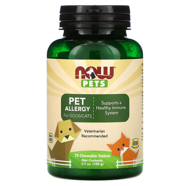 Pets, Pet Allergy, 75 Chewable Tablets