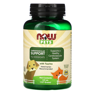 Now Foods, Pets, Cardiovascular Support for Dog & Cats, 4.5 oz (127 g)