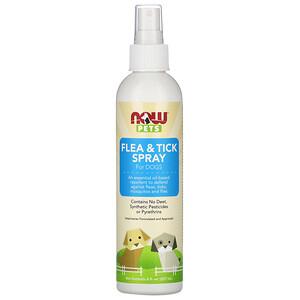 Now Foods, Pets, Flea & Tick Spray for Dogs, 8 fl oz (237 ml)