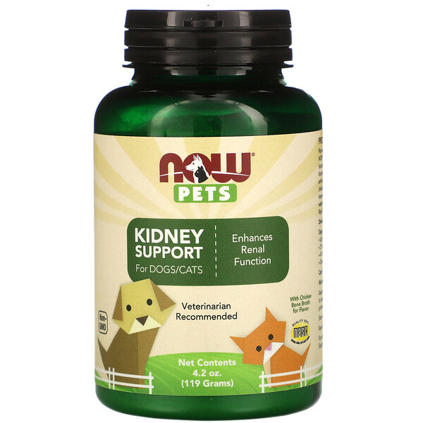 Pets, Kidney Support Powder for Dogs & Cats, 4.2 oz (119 g)