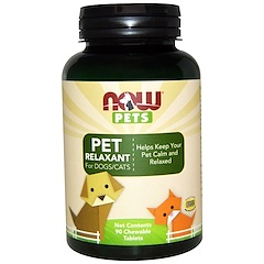 Now Foods, Pets, Pet Relaxant For Dogs/Cats, 90 Chewable Tablets