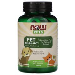 Now Foods, 現在給寵物,寵物放鬆劑狗/貓用,90咀嚼片